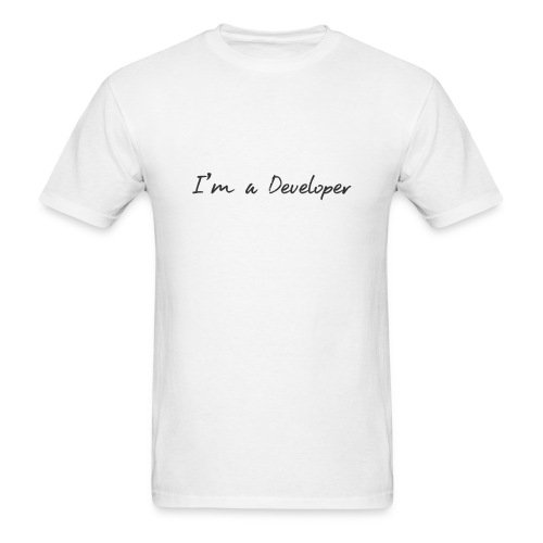 i am a developer - Men's T-Shirt