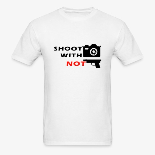 Shoot With Camera Not Guns - Men's T-Shirt