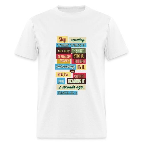 Interesting text - Men's T-Shirt
