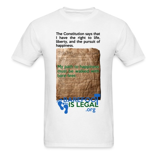 Constitution path to happiness - Men's T-Shirt