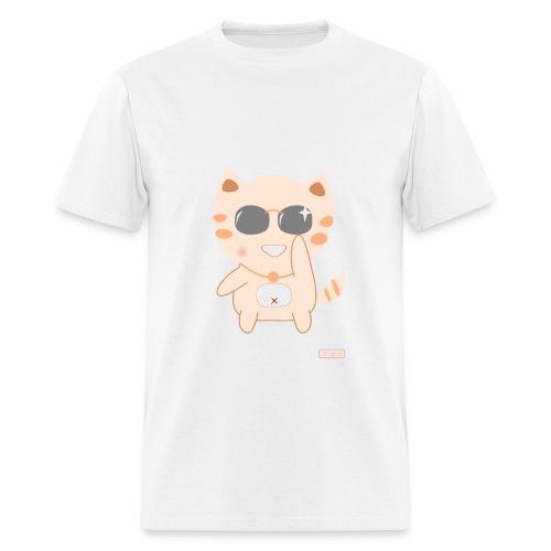 CutiCat with Sunglass - Men's T-Shirt