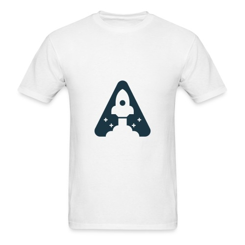 T-shirt with Space Ship. - Men's T-Shirt