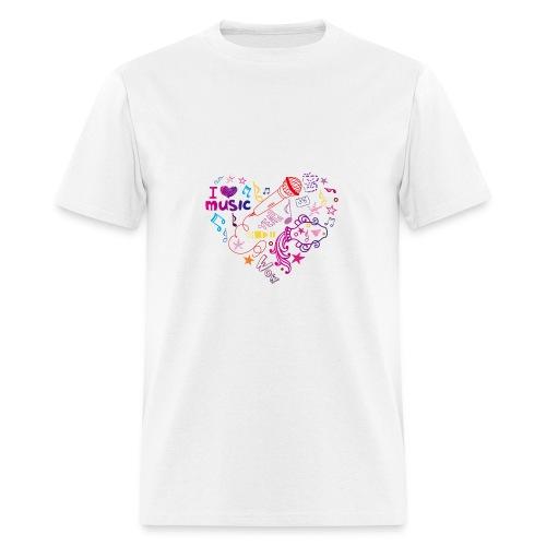 T-shirts music love - Men's T-Shirt