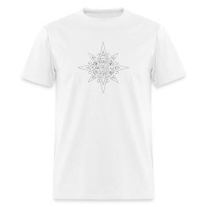 inca sun symbol contour - Men's T-Shirt