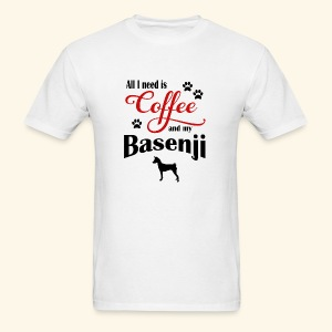 Basenji and my need of Coffee - Men's T-Shirt
