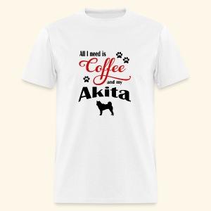 Akita and my need of Coffee - Men's T-Shirt