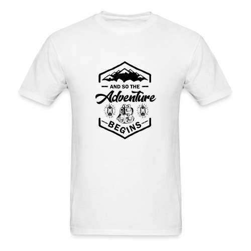 And So The Adventure Begins T shirt Wild Hiking - Men's T-Shirt