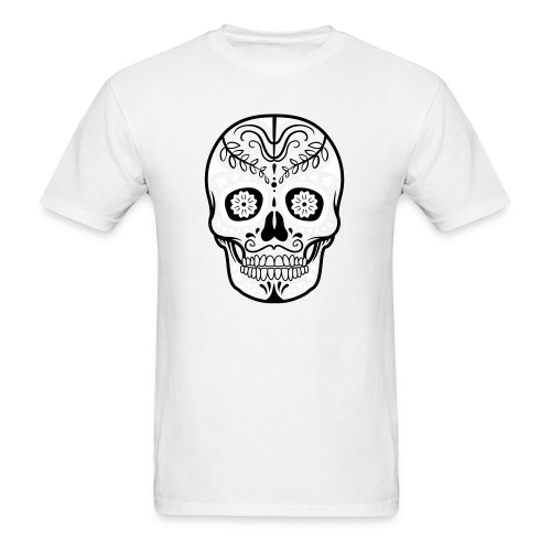 Colorful decorated skulls - Men's T-Shirt