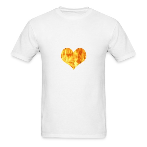 fire heart - Men's T-Shirt