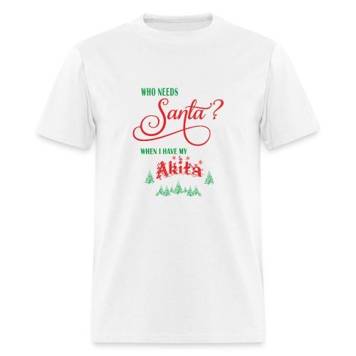Akita Who needs Santa with tree - Men's T-Shirt