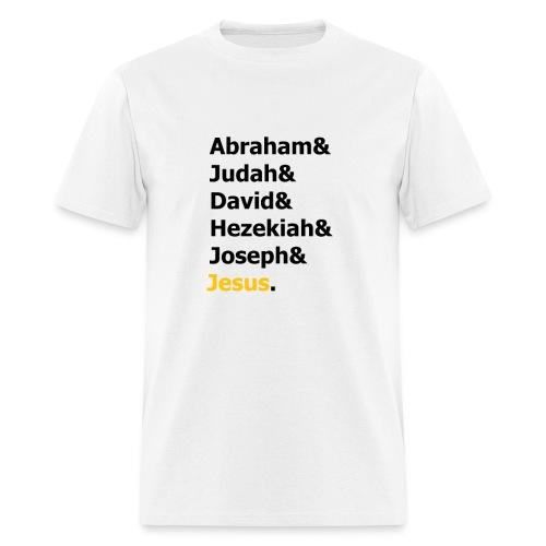 Genealogy of Jesus (Matthew 1) - Men's T-Shirt