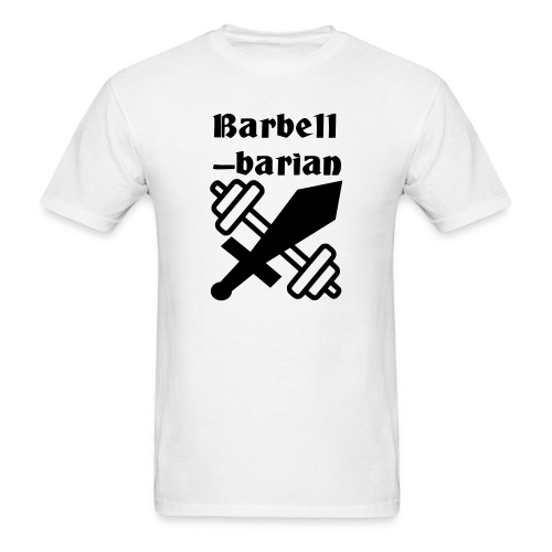 Barbell-barian - Men's T-Shirt