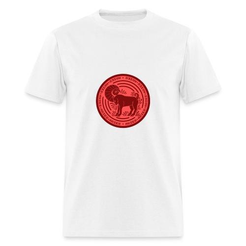 Aries Zodiac Badge 01 - Men's T-Shirt