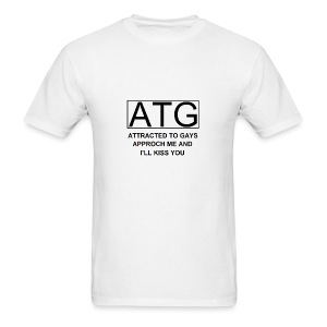 ATG Attracted to gays - Men's T-Shirt