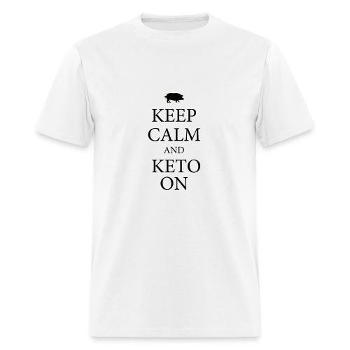 Keto keep calm2 - Men's T-Shirt