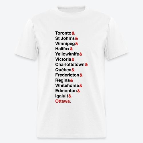 Canada's Capitals - Red & Black - Men's T-Shirt