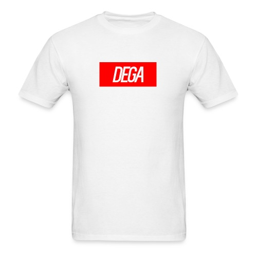 DEGA LOGO SHIRT RED - Men's T-Shirt