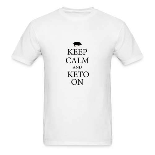Keto keep calm2 - Men's T-Shirt