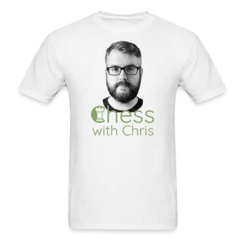 Chess with Chris Face and Logo - Men's T-Shirt