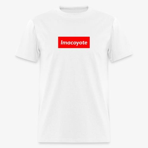 Imacoyote white on red 1 - Men's T-Shirt