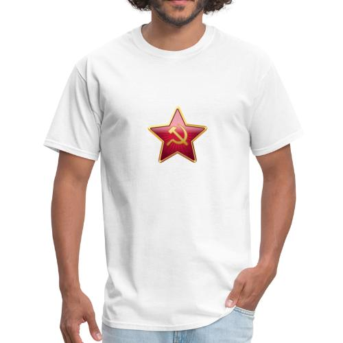 Red star with a sickle and a hammer - Men's T-Shirt