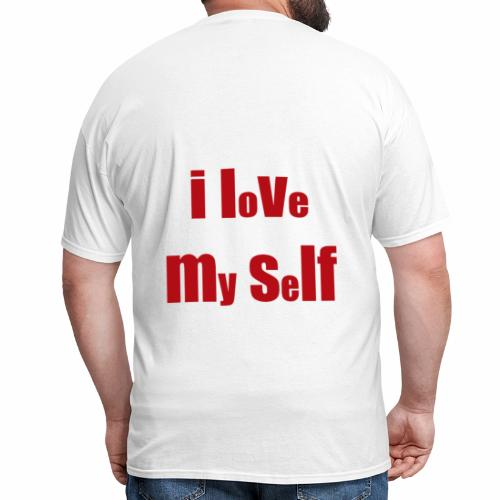 i love my self - Men's T-Shirt
