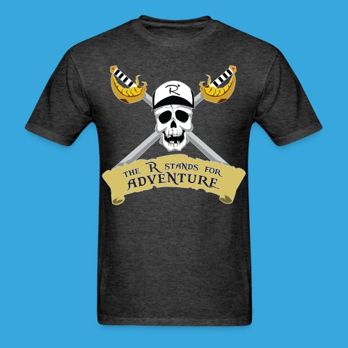 Pirate R for Adventure - Men's T-Shirt