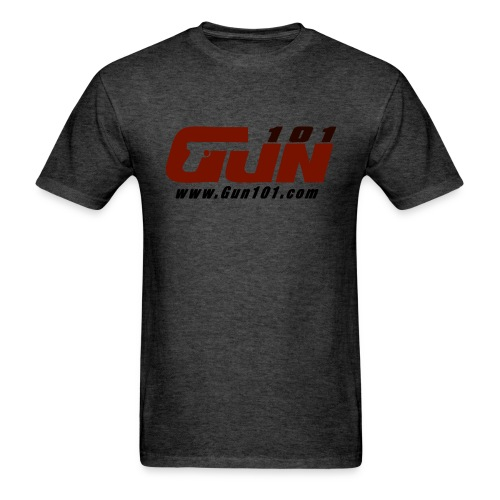 Gun101 T-Shirt w/ Red Logo - Men's T-Shirt