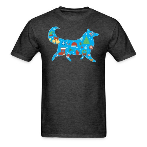 Collie Christmas - Men's T-Shirt