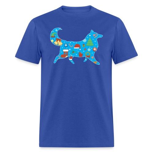 Collie Christmas - Men's T-Shirt