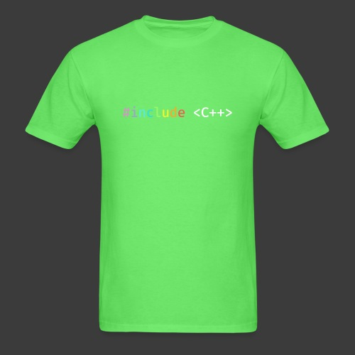 Rainbow Include C++ (Dark Background) - Men's T-Shirt