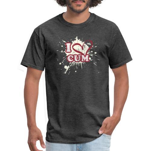 I Heart Cum (Splatter) - Men's T-Shirt
