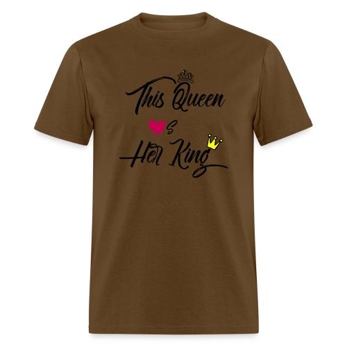 This Queen Loves Her King - Men's T-Shirt