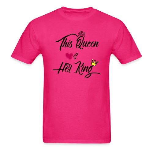 This Queen Loves Her King - Men's T-Shirt