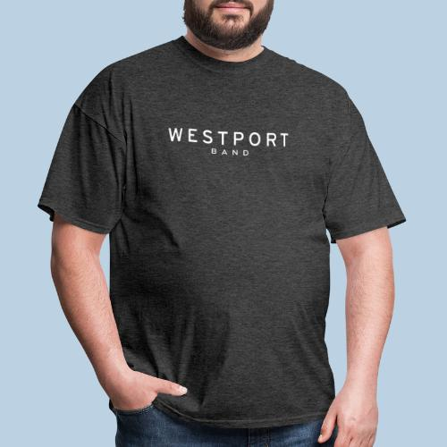 Westport Text White on transparent - Men's T-Shirt