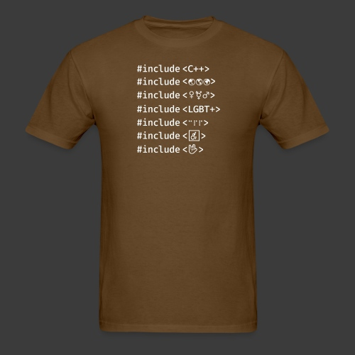 Include List (Dark Background) - Men's T-Shirt