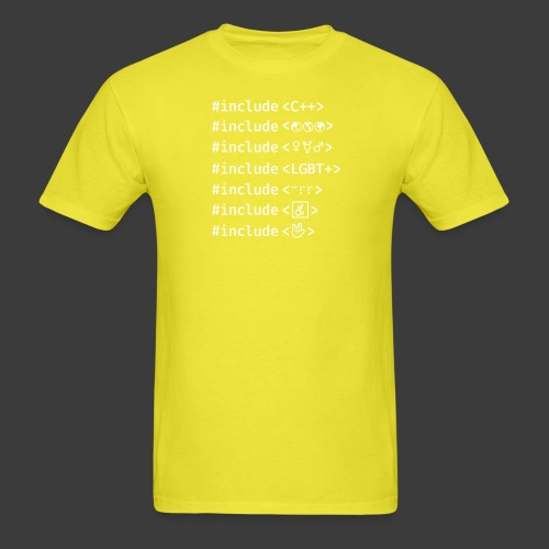 Include List (Dark Background) - Men's T-Shirt