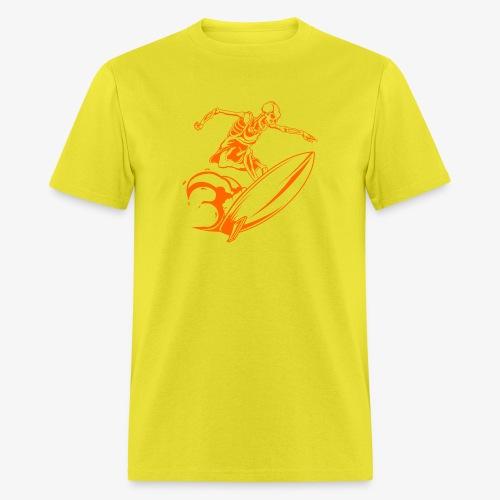 Surfing Skeleton 3a - Men's T-Shirt