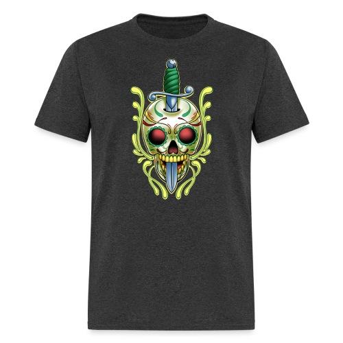DoD Skull w/Sword by RollinLow - Men's T-Shirt