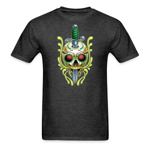 DoD Skull w/Sword by RollinLow - Men's T-Shirt