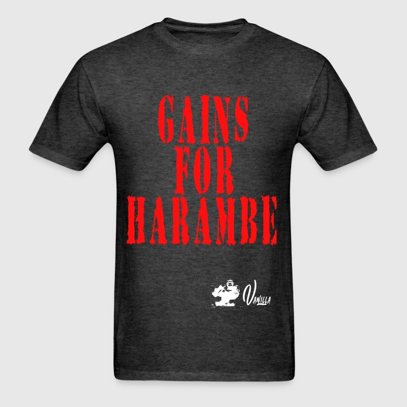 Gains for Harambe - Men's T-Shirt