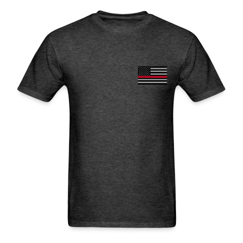 Redline Firefighter Flag - Men's T-Shirt
