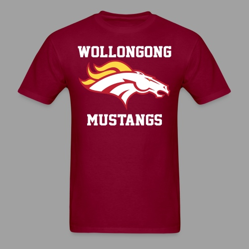 Mustangs Logo White - Men's T-Shirt