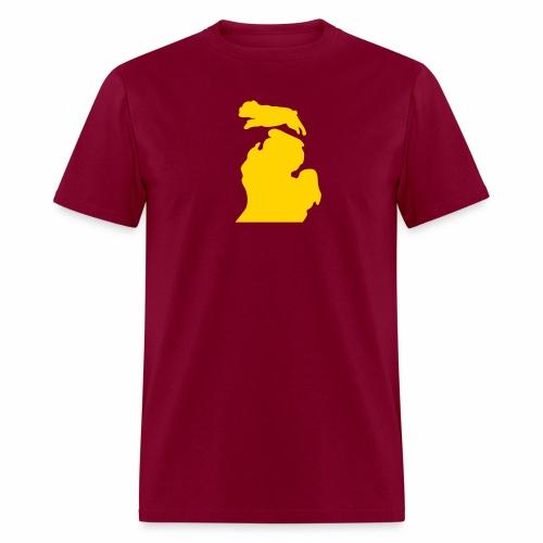 Bark Michigan Bulldog - Ferris State Colors - Men's T-Shirt