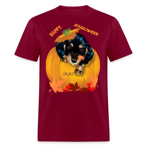 Halloween Dashund Puppy-Boo - Men's T-Shirt