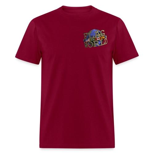 Flagworld Pixel Logo 3000pxwide - Men's T-Shirt
