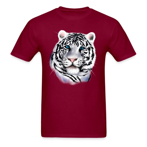 White Tiger Face - Men's T-Shirt