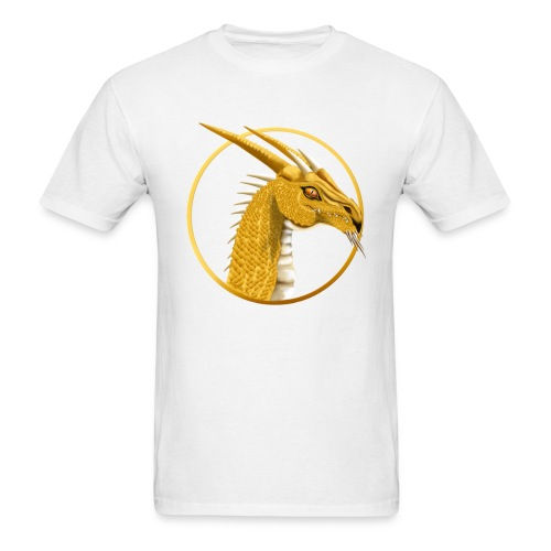 Gold Dragon Face Circle - Men's T-Shirt