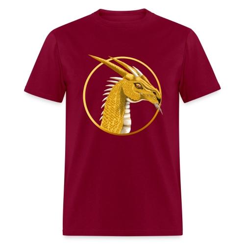 Gold Dragon Face Circle - Men's T-Shirt