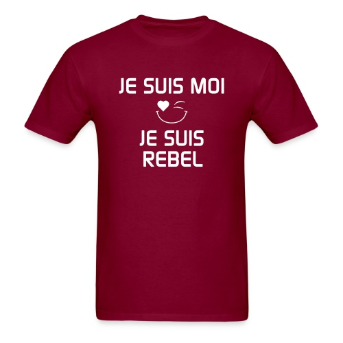 JeSuisMoiJeSuisRebel png - Men's T-Shirt